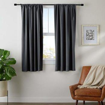 8. AmazonBasics Room Darkening Blackout Window Blackout Curtain