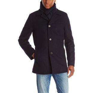 8. Tommy Hilfiger Men's Wool Melton Walking Coat