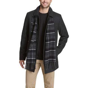 9. Dockers men's Weston Wool Blend Car Coat with Scarf