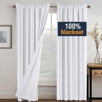 9. H.VERSAILTEX White Blackout Curtains