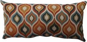 9. Pillow Perfect Flicker Jewel Bolster Throw Pillow
