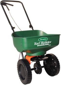 2. Scotts 76121 Turf Builder EdgeGuard Mini Broadcast Spreader