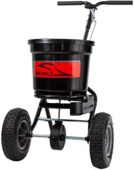 8. Brinly P20-500BHDF Push Spreader with Side Deflector Kit