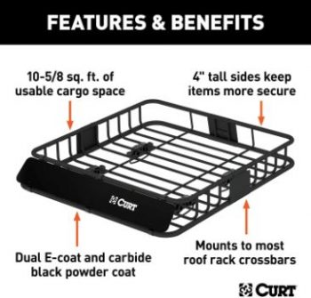 1. CURT 18115 Universal Steel Roof Rack