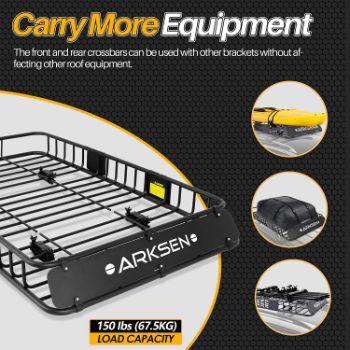 4. ARKSEN 64 Universal Roof Rack Cargo