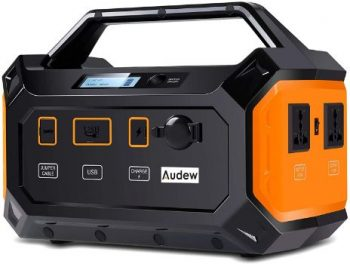 4. Audew Portable Power Station, 300Wh Solar Generator