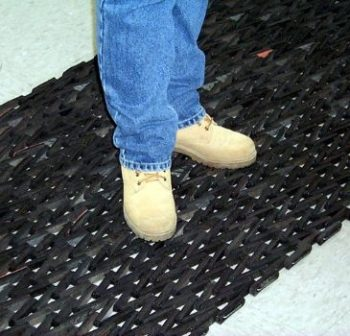 6. Durable Durite Recycled Tire-Link Entrance Mat