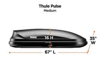 6. Thule Pulse Rooftop Cargo Box, Medium