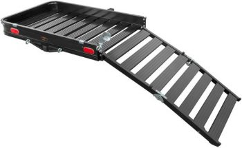 9. CURT 18112 Aluminum Hitch Cargo Carrier