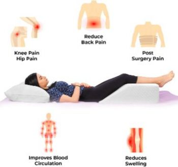 1. EBUNG Leg Elevation Pillow, Leg Rest
