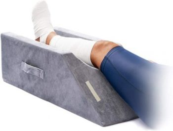 5. LightEase Memory Foam Leg Elevation Pillow