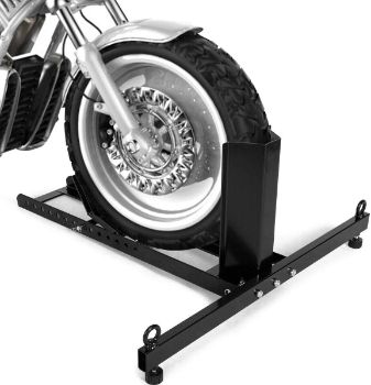 6. Goplus Motorcycle Wheel Chock Stand