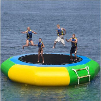 6. Inflatable Water Trampoline, 10 feet