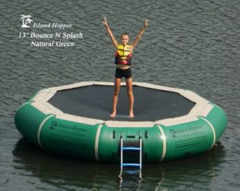 7. Island Hopper 13' Bounce N Splash Water Bouncer