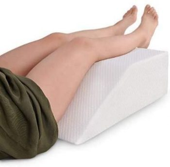 7. Leg Elevation Pillow with Memory Foam Top