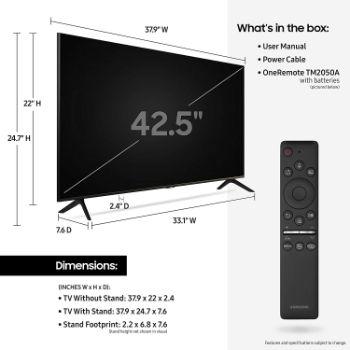 1. SAMSUNG 43-inch TU-8000 Series - 4K UHD HDR Smart TV