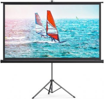 2. TaoTronics 4K HD 100'' Projector Screen with Stand