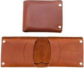 3. Helko Werk Frontier Collection Leather Bifold Wallet
