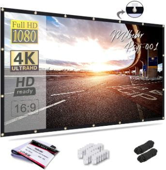 3. Mdbebbron 120-inch Projection Screen for Home Theater