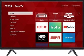 3. TCL 43S325 1080p Smart LED ROKU TV