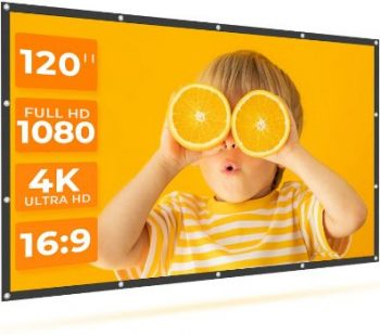 6. VANKYO 120 Inch StayTrue Projector Screen