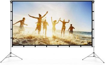 7. Vamvo 120-inch Projector Screen with Stand