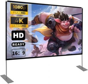 8. HOIN Projector Screen with Stand, 100 inches