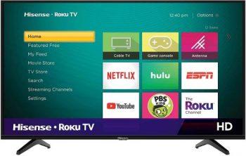 8. Hisense 43-Inch Class H4 Series LED Roku Smart TV