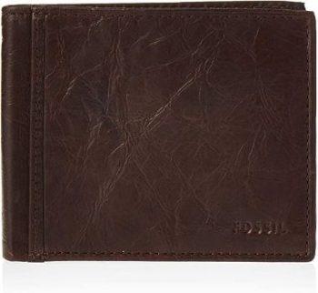 9. Fossil Men's RFID Flip Id Bifold Wallet