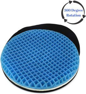 10. FOMI Premium Firm Swivel Gel Seat Cushion