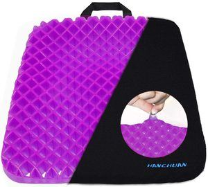4. HANCHUAN Gel Seat Cushion Pressure Absorbs Honeycomb Sitter Elastic Support Chair Pad for Office