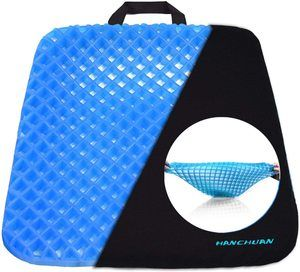 6. HANCHUAN Gel Seat Cushion Coccyx Seat Support All Gel Cushion