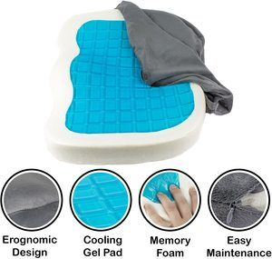 7. JIDA Orthopedic Gel Comfort Memory Foam Seat Cushion
