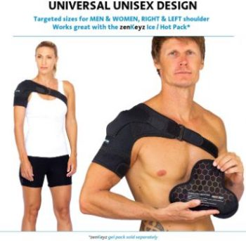 1. Zenkeyz Shoulder Brace (Black, Large X-Large)