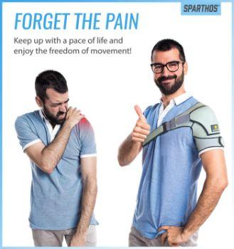 4. Sparthos Shoulder Brace - Support and Compression Sleeve
