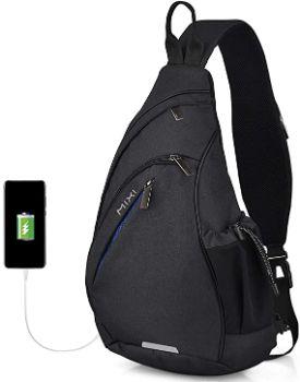 8. Sling Bag Men Backpack with USB Port