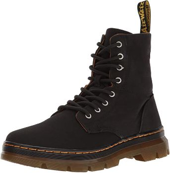 9. Dr. Martens Men's Combs Washed Canvas Combat Boot