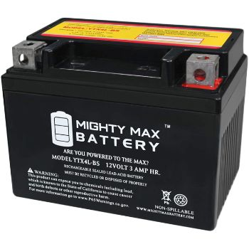 1. YTX4L-BS 12V 3AH 50 CCA Power Sport SLA Battery