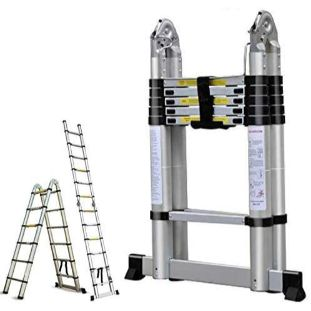 7. Bowoshen 16.5 FT Aluminum Telescoping Extension Ladder